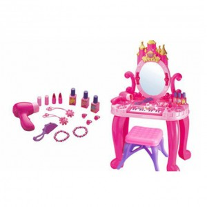 Girls Vanity - 2 in 1 Piano Dressing Table with Fashion Accessories