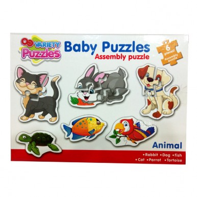 Pre-School Baby Toddler Puzzles for Kids Learning Pet Animals - 3 to 8 inches