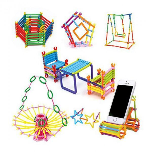 Fun Plastic Dream Blocks - 98 pcs