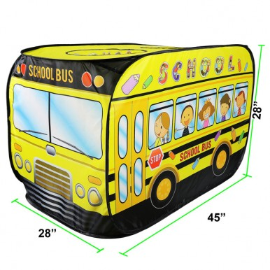 School Bus Pop Up Foldable Play Tent - 45 inches