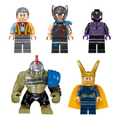 Avengers: Super Heroes: Thor Vs Hulk: Ragnarok Arena Clash Building Blocks - 7131