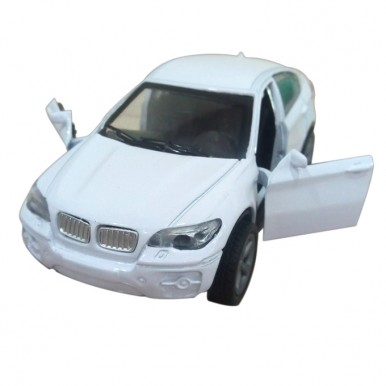 BMW Scaled Model Metal Pull Back Die Cast - White