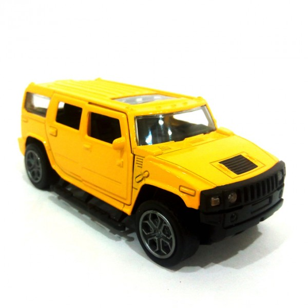 Hummer Scaled Model Metal Pull Back Die Cast with Light & Sound - Yellow