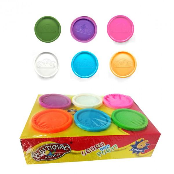6 Colors - Big Play Dough Jars