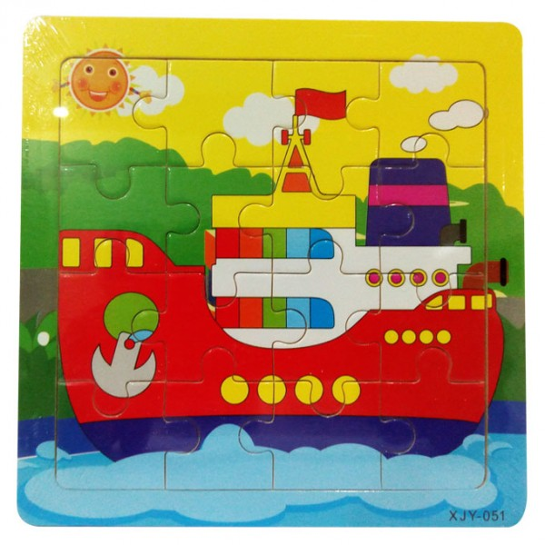 Boat Ship - Wooden Jigsaw Puzzle - 6 inch