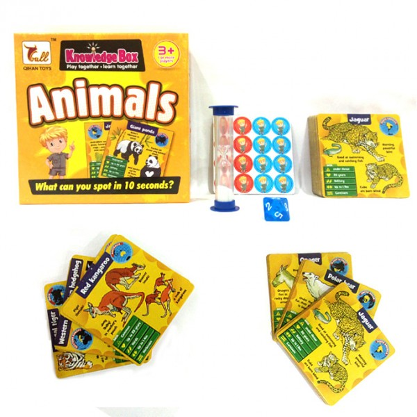 Animals Knowledge Box - Educational Learning Cards Game