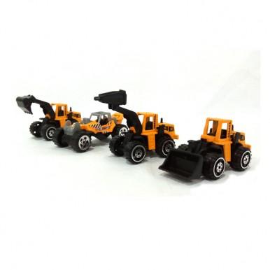 Construction Vehicles Die Cast Cars Set - 4 Pcs
