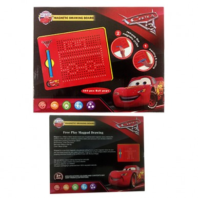Cars McQueen Magnetic Drawing Board - 380 pcs Ball pops