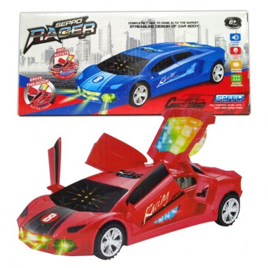 Crazy Ferrari with Light and Sound toy car for kids - 360 rotation