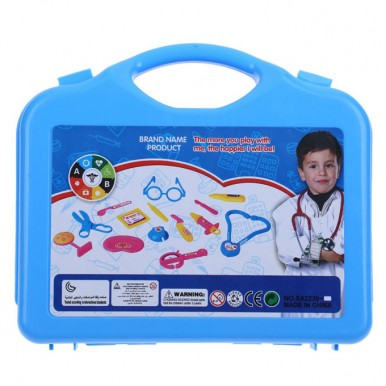 Little Doctor Set Briefcase for Kids in Blue Colour