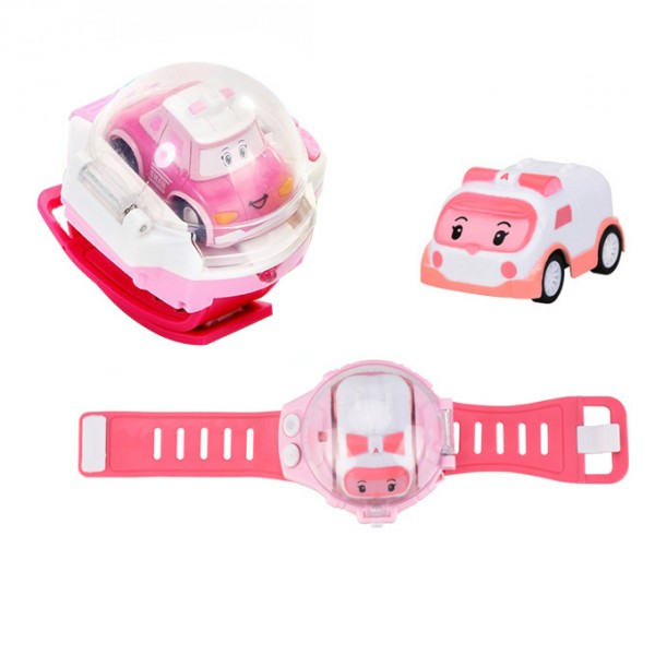 Remote Controlled Mini Ambulance Car Smart Watch for Girls - Amber Pink