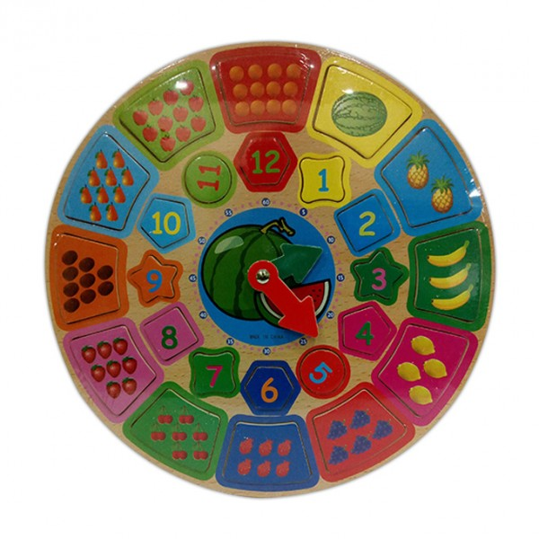 Time and Number Counting Teaching - Wooden Board Puzzle