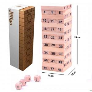 Jenga Wooden Stacking Tower Game - 52 pcs