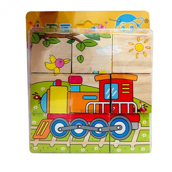 Transportation Vehicles - Cubical Wooden Puzzle