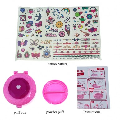 Girls Creator Kids Color Tattoo Party Set - Removable