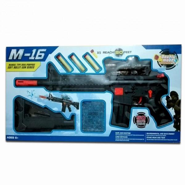 M-16 Manual Dart & Water Bullet Shooter Toy Gun