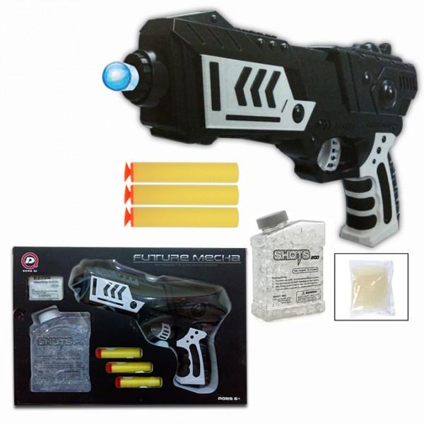 Future Ultra Black Shooting Gun with Orbeez & Nerf Soft Foam Bullet Darts