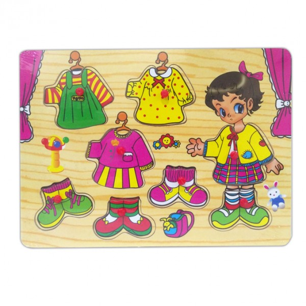 Educational  toys Dressing Puzzle  Wooden Puzzle
