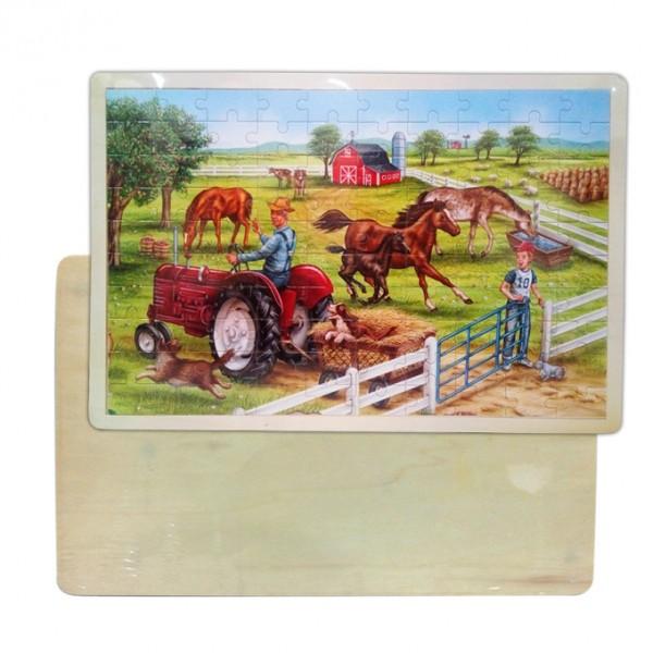 Big Farm Wooden Educational  Puzzle