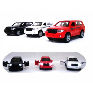 Toyota Land Cruiser Prado - Pull Back and Die cast - Assorted Color Car