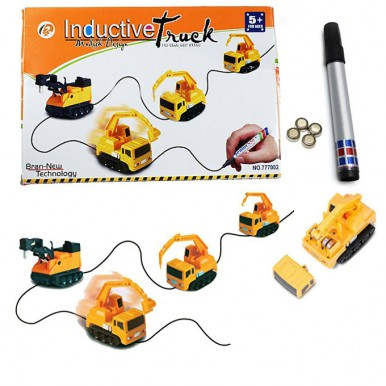 Magic Pen Inductive Car Tank Truck Doodle Marker Toy Automatic Follow-Line