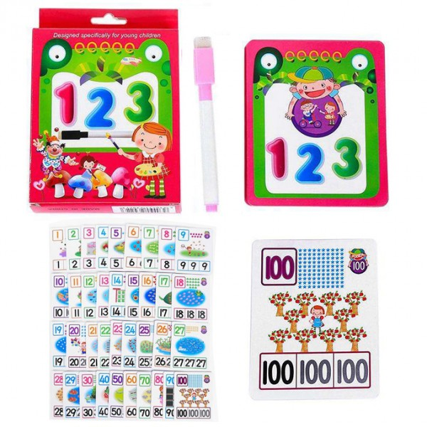 123 Numbers Learning Flash Cards With Marker