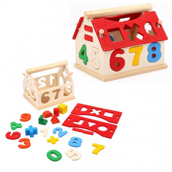 Number House - Wooden play set