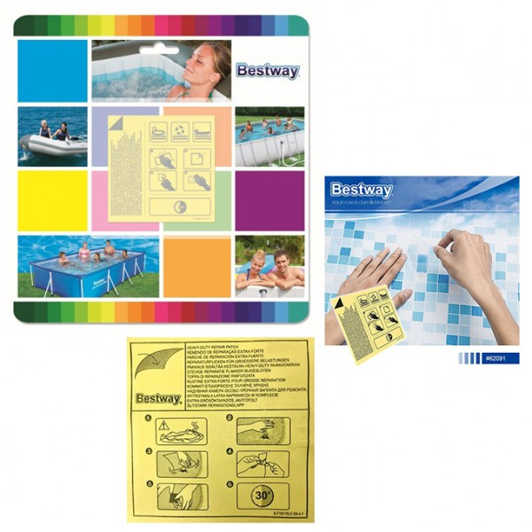 Bestway - 10 Water Resistant Adhesive Patches For Pool and Inflatable Repairs - 62091
