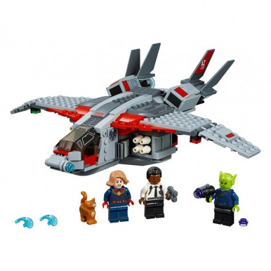 Captain Marvel and The Skrull Attack Building Blocks with Nick Fury - 11235