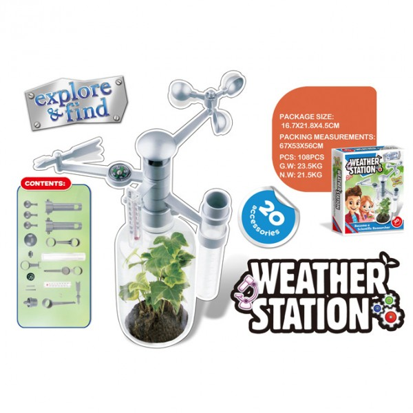 Weather Station anemometer,thermometer and a rain gauge