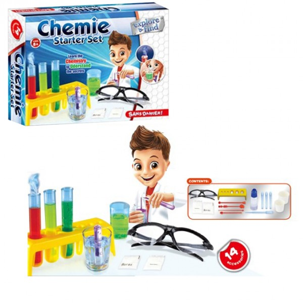 Learning tool and a toy Chemie Start Set