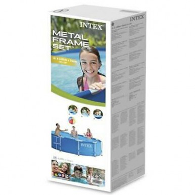 Intex - Round Metal Frame Foldable Swimming Pool