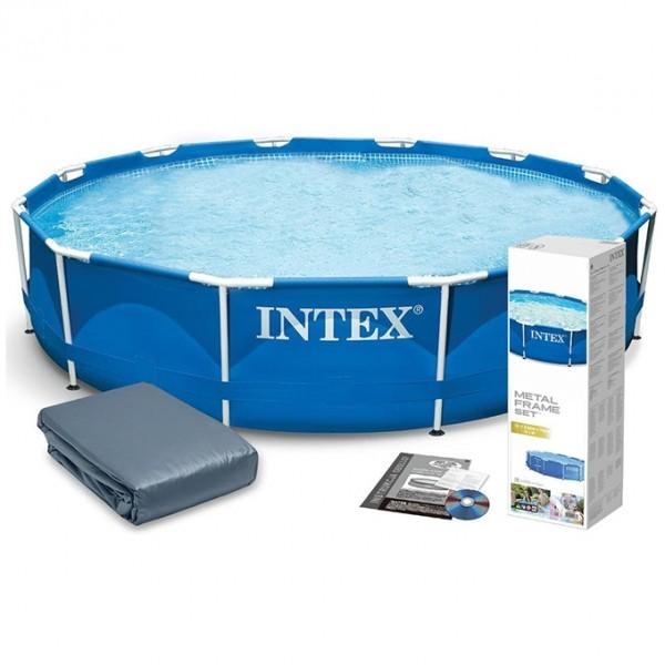 Intex - Round Metal Frame Swimming Pool