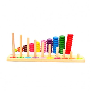 Counting wooden Rings 1-10