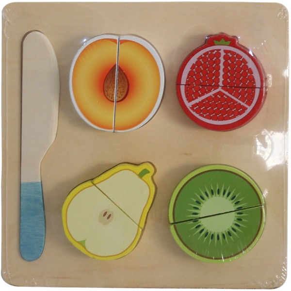 WOODEN PUZZLEFOR KIDS - FRUITS SET 2