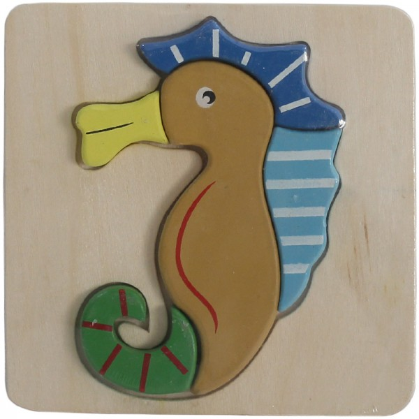 WOODEN PUZZLE THICK FOR KIDS - SEAHORSE
