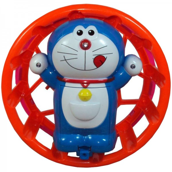 Doraemon Circling Function Toy with Colourful Rotating Lights