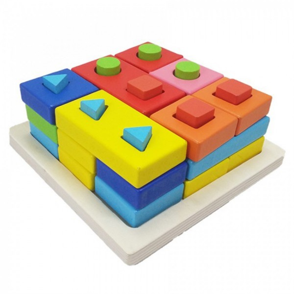 SHAPES MATCHING IQ PUZZLE for KIDS - WOOD