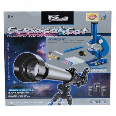 2 IN 1 SCIENCE SET - TELESCOPE for KIDS LEARNING