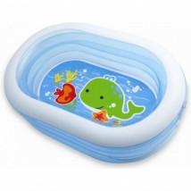 Intex - Oval Whale Fun Inflatable Pool (163 X 107 X 46 cm) - 57482