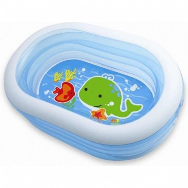 Intex - Oval Whale Fun Inflatable Pool (163 X 107 X 46 cm) - 57482