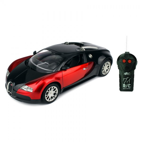 Remote Control BUGGATI Toy Car for Kids in RED Color