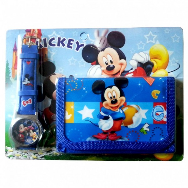 Mickey Mouse Watch With Wallet