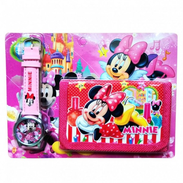 Minnie Mouse Watch With Wallet