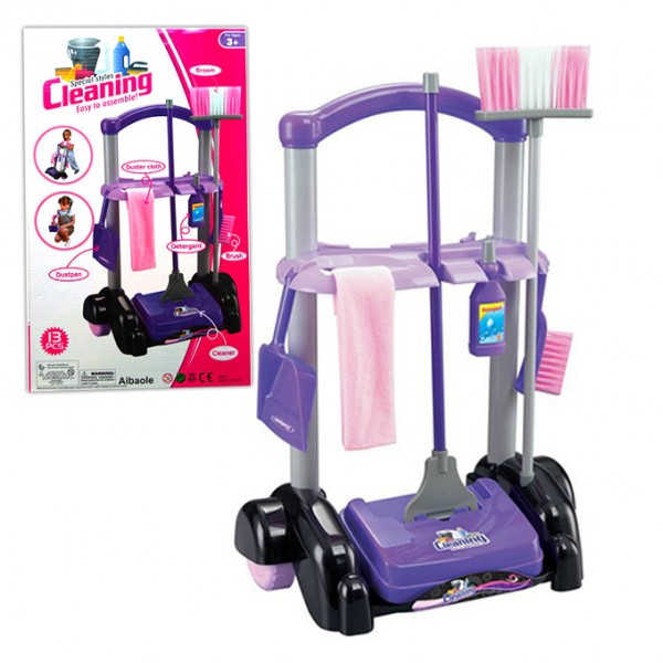 Cleaning Trolley Set Toys For Kids