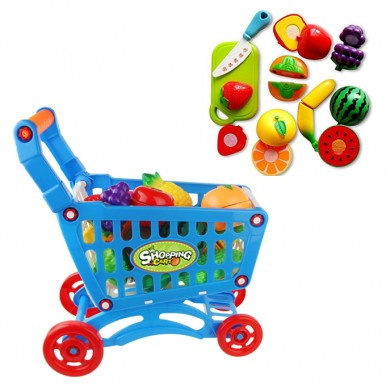 Shopping Cart With Fruit Cutting
