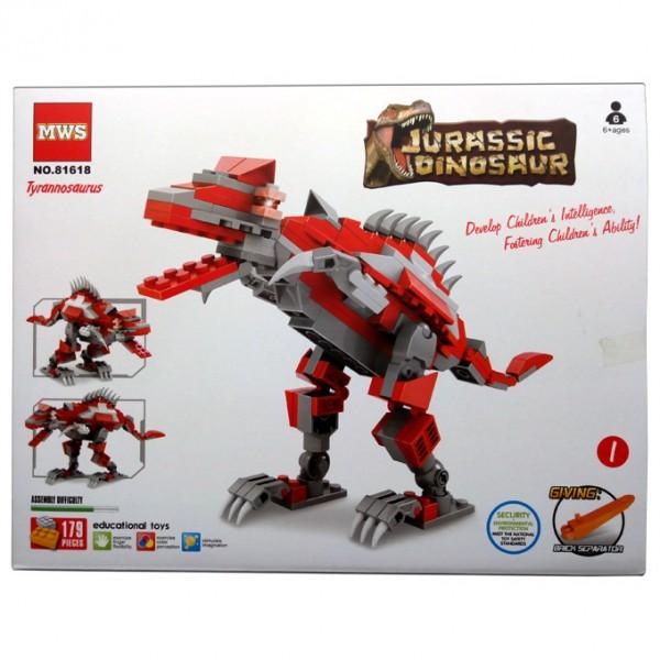 Jurassic Dinosaur - Red Tyrannosaurus Building Blocks