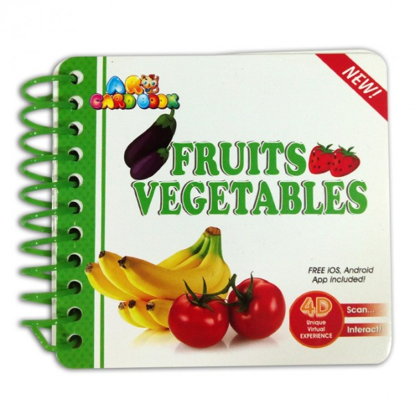 Fruits & Vegetables - Learning Card Book