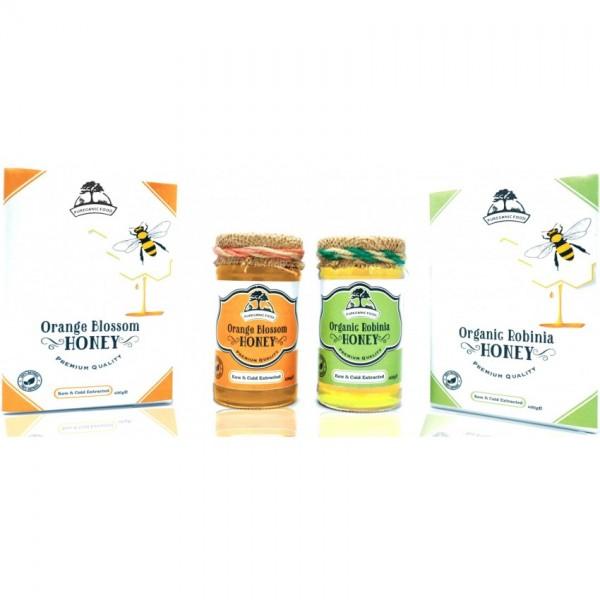 Orange Blossom Honey and Organic Robinia Honey