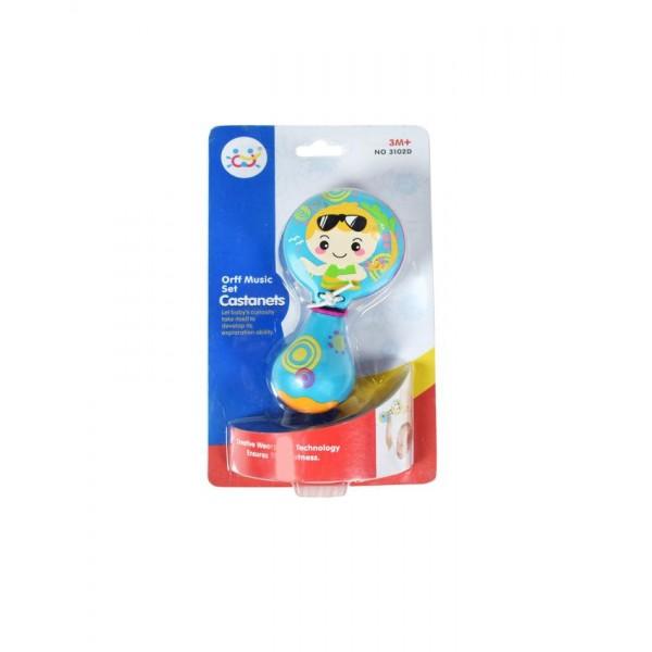 Castanet Music Toy - 3102D - Blue
